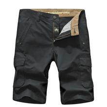 Marke nianjeep plus größe 42 shorts für männer 100% baumwolle 2017 kühle sommer lässige strand kleidung military big taschen