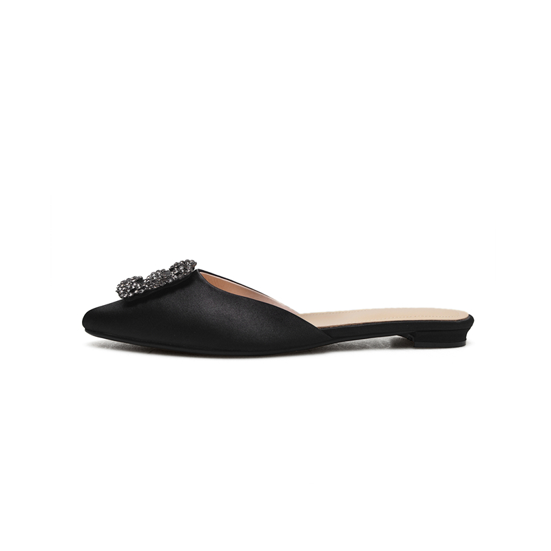 BONJOMARISA 2018 New Top Quality Large Size 34-43 Brand Woman Flats Mules Shoes Spring Casual Woman Shoes Woman