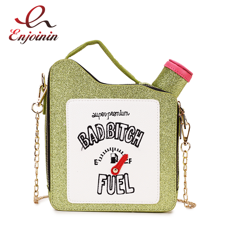 Unique Sequins Pu Embroidered Oil Pot Style Young Girl's Handbag Shoulder Bag Crossbody Messenger Bag Totes Bag Chain Purse Flap