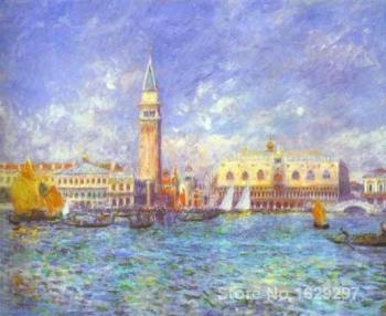 canvas oil paintings Doges Palace, Venice by Pierre Auguste Renoir Reproduction art Hand-painted High quality