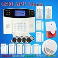 2017 Hot Free shipping NEW PIR Smoke White GSM alarm system 433MHz for 7PCS Magnetic door Wireless home security alarm system