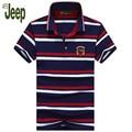 2017 новых весной и летом AFS JEEP/Battlefield Jeep мужская polo рубашка изысканные полосатый короткими рукавами лацкане случайные polo shirt 55