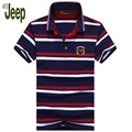 2017 new spring and summer AFS JEEP/ Battlefield Jeep men's polo shirt fine striped short-sleeved lapel casual polo shirt 55