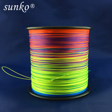 8strands 300M SUNKO Brand Japanese Multifilament PE Material colorful Braided Fishing Line18 30 40 50 60 70 80 100 120 140 160LB