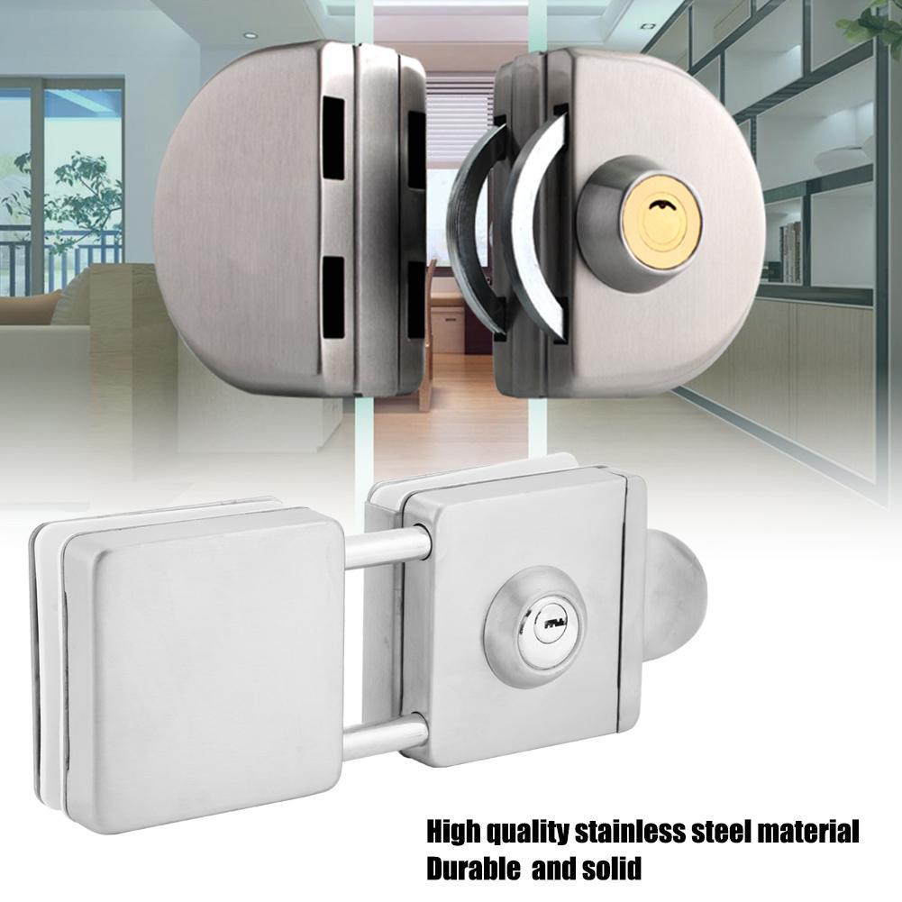 45-55mm oor Lock Stainless Steel Lock for Glass Door Double Locker cerradura puerta serrure de porte