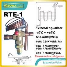 RTE-1 ТРВ имеет отверстие, благодаря которому газа, проходящего через он вдруг падает до уровня давления в испарителе