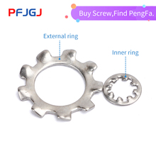 Peng Fa M3/M4/M5/M6/M8-M16 304 Stainless Steel Internal Toothed Gasket Washer Lock Washer External Teeth Lock Washer Rated 5.0 / 100pcs din6798j m3 m4 m5 m6 m8 304 stainless steel washers internal toothed gasket washer serrated lock washer hw137