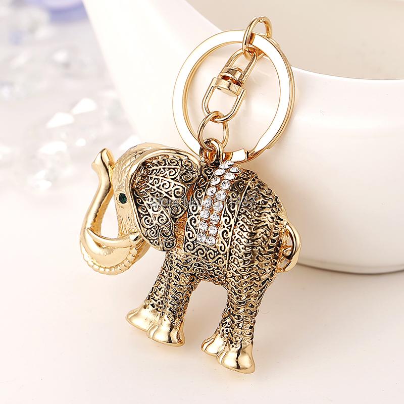 Creative Elephant Crystal Keychain