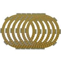 6pcs Clutch Plates For Kawasaki KX85 B8F,B9F 2008-2009, B9FA 2009,BBF 2011,KMX125 1986-1987 Motorcycle Paper Base clutch Disc