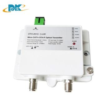 FTTH OTH-2013-3mW CATV+STA-IF Micro Optical Transmitter 47-2150MHz 1310nm single mode 12V DC Micro Optical Transmitter ,NOT CATV