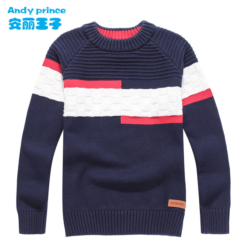 2017 New Styles Children's Clothing Child Sweater O-neck 100%cotton Sweater Boy Spring and Autumn Pullovers for Kids 4-16 Years