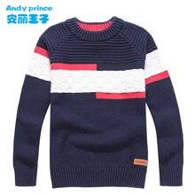Детский свитер с круглым вырезом, 100% хлопок