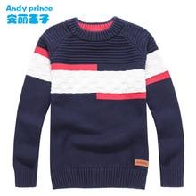 新スタイル子供服子供のセーター o ネック綿 100% の少年春と秋のプルオーバー子供のための 4  16 年