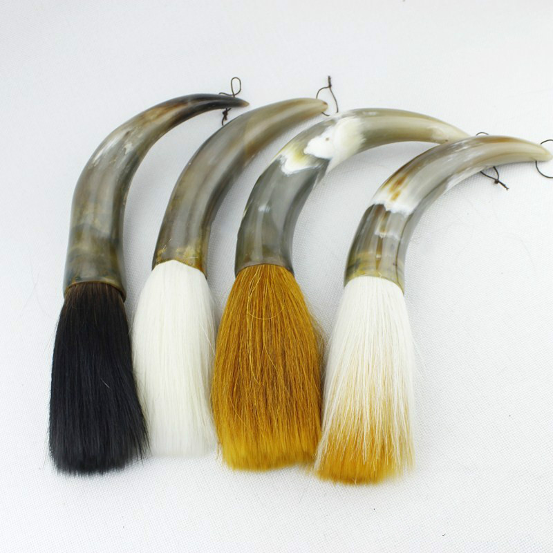 High Quality Ox Horn Hopper-shaped Brush Chinese Traditional Calligraphy Brush Chinese Painting Brush the Scholars Four JewelsHigh Quality Ox Horn Hopper-shaped Brush Chinese Traditional Calligraphy Brush Chinese Painting Brush the Scholars Four Jewels