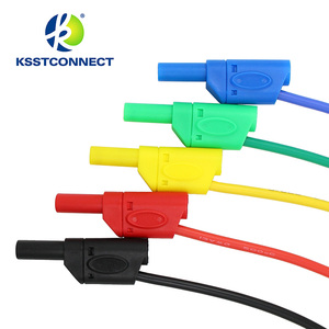 Image 4 - Fil de test en silicone flexible, de haute qualité, 13AWG, fil plaqué Nickel, fiche banane empilable, 4mm, TL440, 1.0 mètres