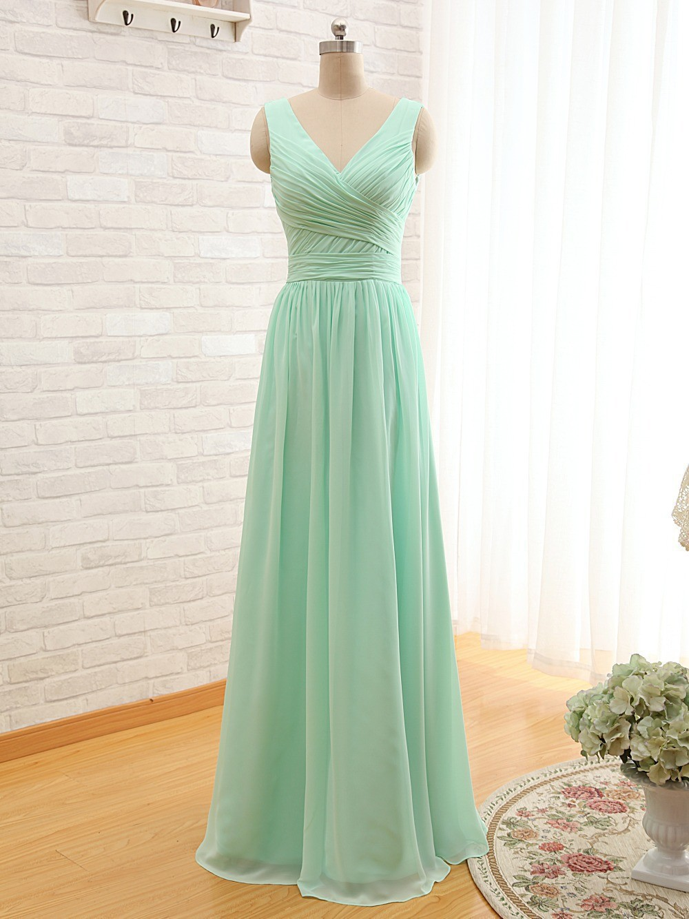 Ever beauty mint green long chiffon a line pleated bridesmaid ever beauty mint green long chiffon a line pleated bridesmaid dress under 50 wedding party dress 2017 robe demoiselle dhonneur in bridesmaid dresses from ombrellifo Choice Image