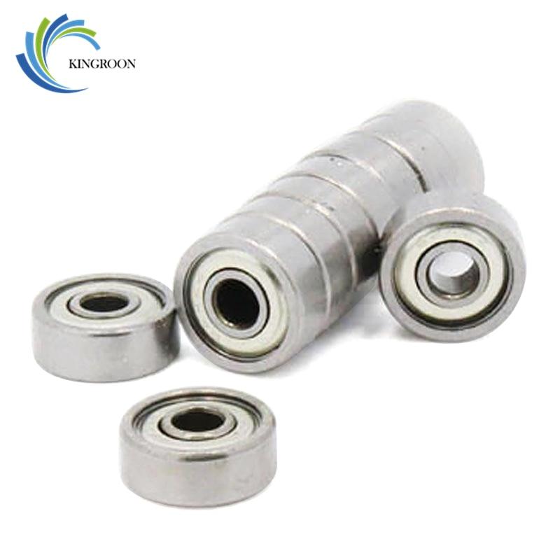 10pcs/lot Ball Bearings 623ZZ 3x10x4mm Part 623-ZZ Wheel Miniature Deep Groove 3D Printer Parts 623 ZZ Pulleys Stainless Steel 2