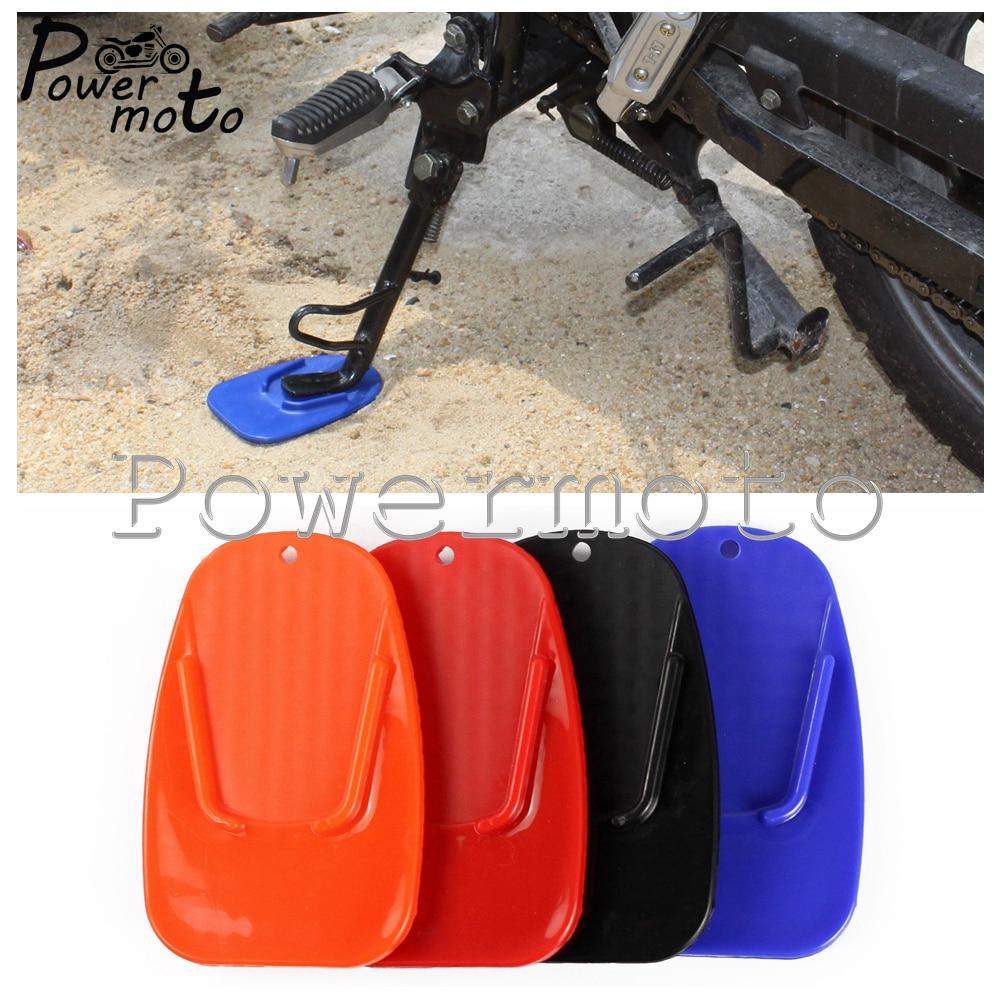 Colors Motorcycle Bike Plastic Kickstand Side Kick Pad Plate Base Non-slip Plate Side Extension For Yamaha Honda Suzuki Kawasaki