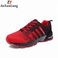 Ao Xun Long Quality Cheap Men Shoes Casual Fly Weave Fashion Couple Flat Shoes For Adults