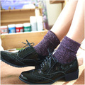 3pairs/lots Hot Sale 2017 Shiny Long Socks Autumn and Winter New Fashion Glitter silver Flanging Wild In Tube Socks AXD9020
