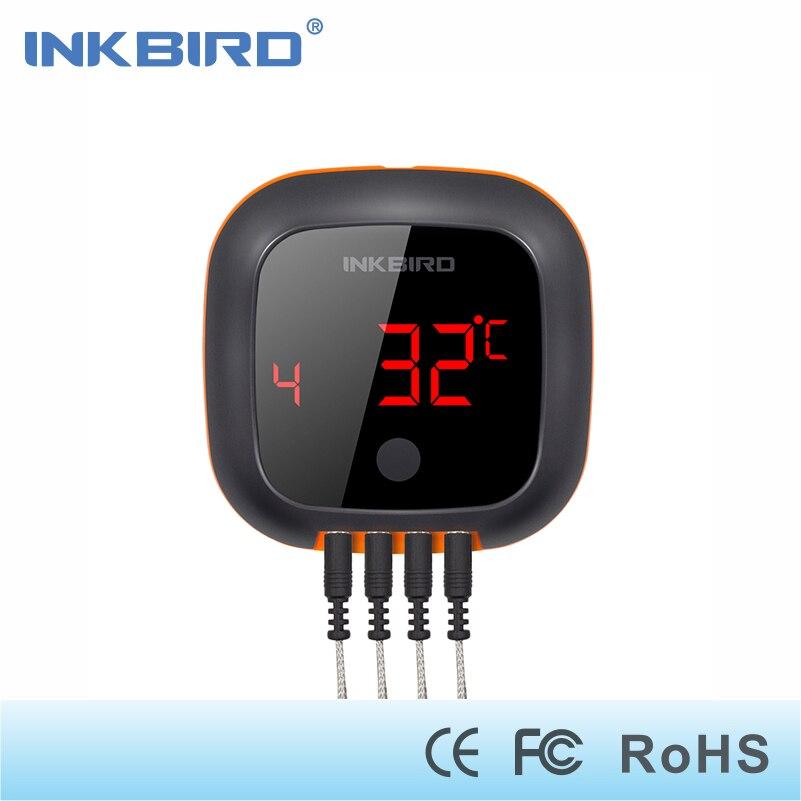 Inkbird IBT-4XS портативный беспроводной мясо гриль духовка курильщика принадлежности для шашлыков термометр с перезаряжаемые батарея и магнитн