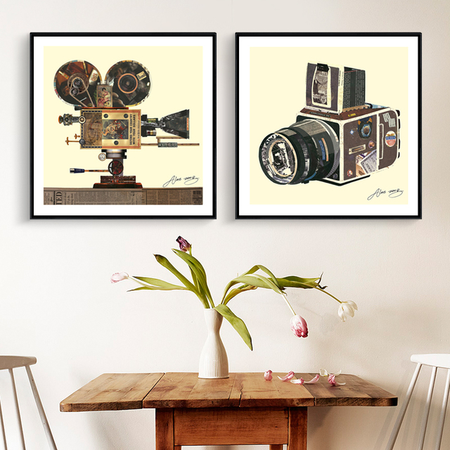 Full House Modern Style Creative Photo Studio Decor Art Print Posters Canvas Painting Wall Pictures Living