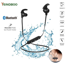 YEINDBOO Magnetic Bluetooth Earphone Sport Headphone 4.2 with Build-in Mic Headset Hands free