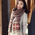 2016 Moda Inverno Unissex Mulheres Cachecóis Outono Inverno Quente Cachecol De Lã De Malha Cachecóis Longos Estilo WJ167