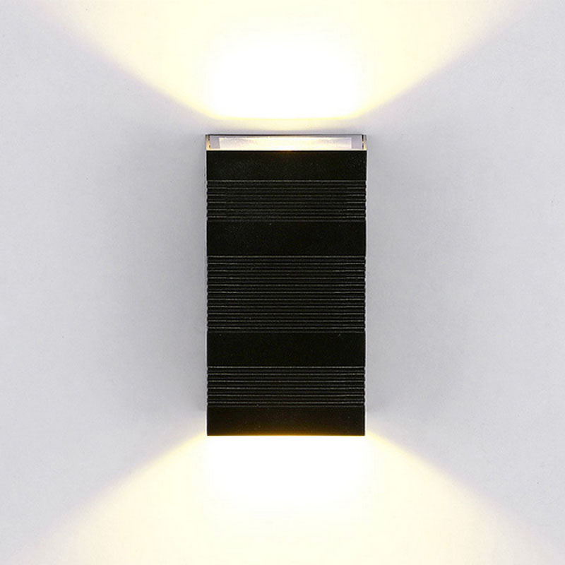 Modern Waterproof Outdoor Exterior LED Wall Lights Bedroom Rectangular Wall  Lamps Indoor Lighting AC85 265V