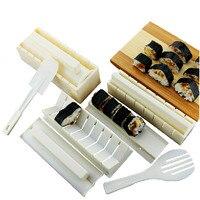 10 Pcs Set Plastic Sushi Tools Set Bento Tool Sushi Maker Kit Rice Ball Mold Onigiri