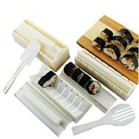 10 Teile/satz Kunststoff Sushi Werkzeuge Set Bento Werkzeug Sushi Maker Kit Reis Ball Mold Onigiri Mould Japanische Küche Kochen Werkzeuge