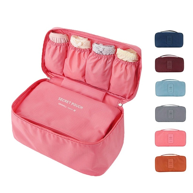 storage bags Travel Necessity Accessories Storage Bag For Underwear Clothes Lingerie Bra Organizer Cosmetic Pouch Suitcase Case