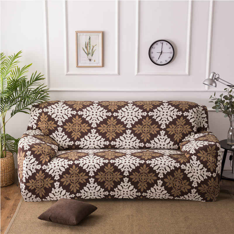 Geometric Printing Sofa Cover Stretch Elasticity All-inclusive Sofa Slipcover Single/Two/Three/Four-seater Sofa Cover Protector