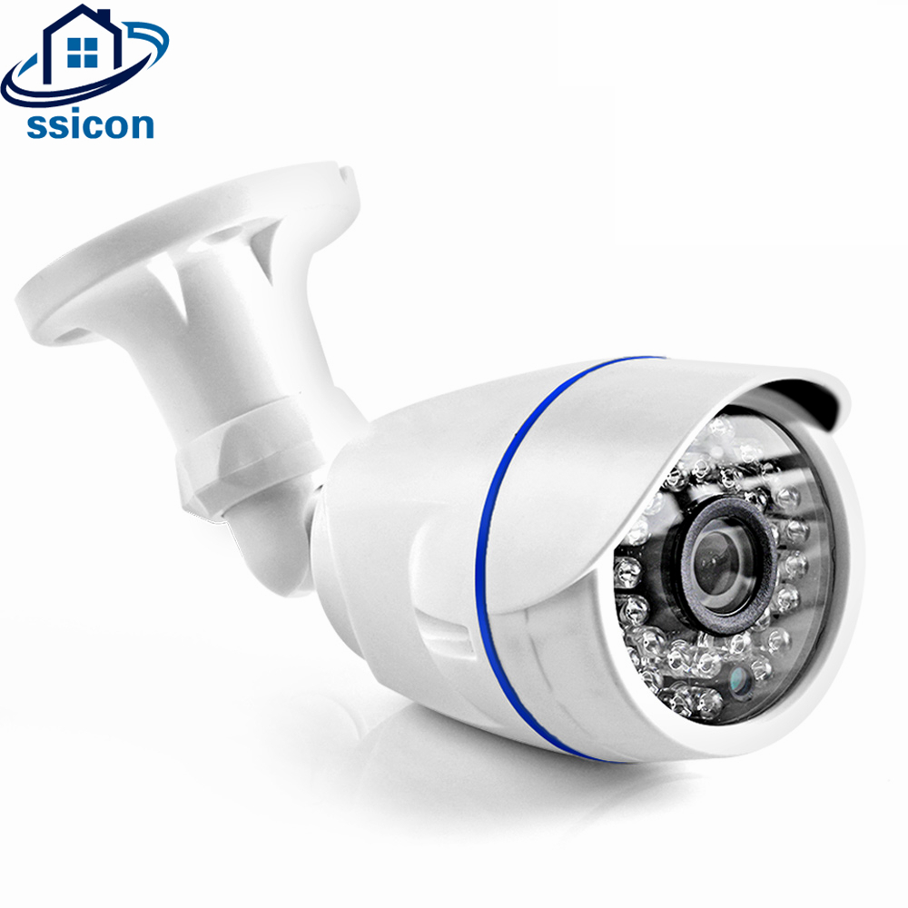 цены SSICON 3.6mm Lens OV4689 CMOS Sensor Waterproof 4MP Bullet Analog Camera Outdoor Night Vision 20M 2500TVL Security Camera AHD