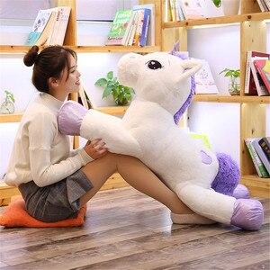 Image 5 - W gigantycznym rozmiarze 110/60cm Kawaii pluszowy jednorożec miękkie nadziewane popularne lalki z kreskówek zwierząt koń wysokiej jakości zabawki dla dzieci dziewczyny