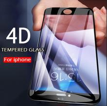 4D Curved Full Cover Tempered Glass For iPhone 7 8 Plus 6 6s Plus Screen Protector For iPhone 6 8 Plus 7 Protective Glass Film
