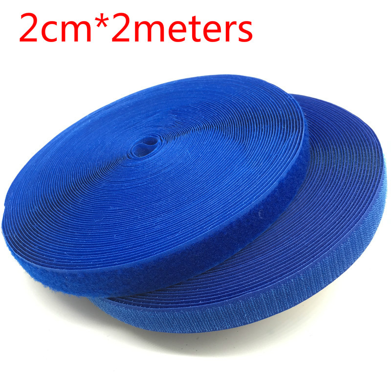 New Hot Sale Brand 20mm 2meters/lot Colorful HOOk&LOOP Sew on Fastener Tape Ribbon for Home Garment Bag Shoes Accessories DIY