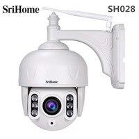 SriHome SH028 2MP PTZ IP Camera 1080P Full HD Dome Outdoor Monitor With Speaker Wireless Surveillance CCTV Camera 360 Degree
