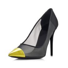 Sweet Women's High Heels Sexy Pointed Toe Lace Party Shoes Hollow Pumps Plus Size Female Elegant Stiletto Shoes TL-A0096 fashion sweet women 10cm high heels pumps female sexy pointed toe black red stiletto high heels lady pink green shoes ds a0295