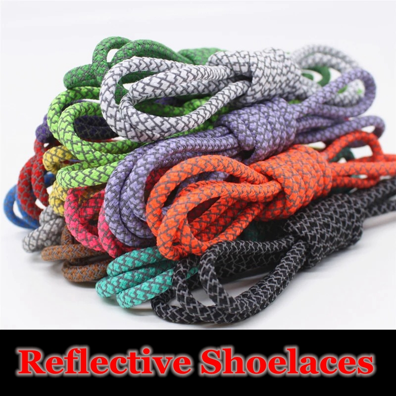 1Pair 3M Reflective Shoe Laces Sneakers Round ShoeLaces Kids Adult Outdoor Sports Shoelace Strings Length 100 120 140 160CM YD-4