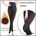 Roupa interior térmica de alta cintura Body Magic Shaper Plus size pernas controle Shapewear aço desossado Leggings calças apertadas cintura Shaper