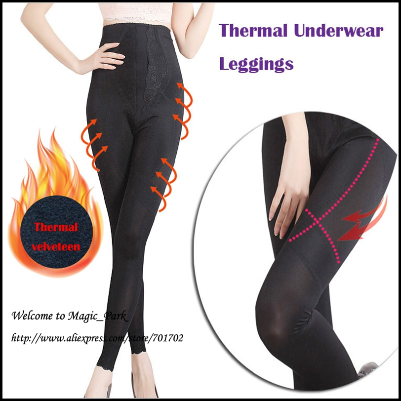 Plus size Legs Thermal Underwear High Waist Magic Body Shaper