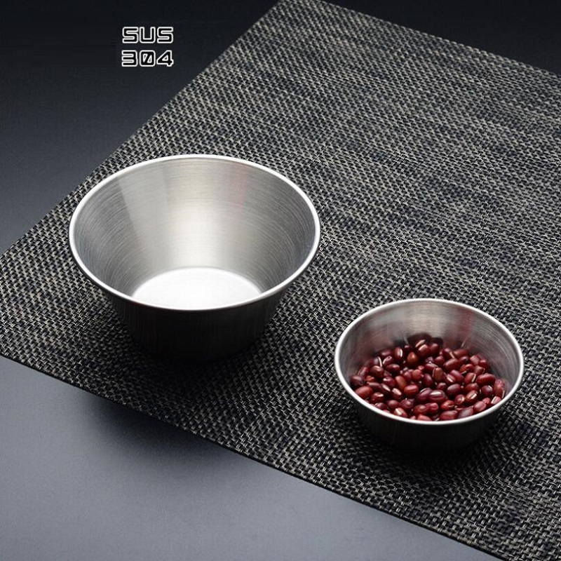 1 pcs 304 stainless steel seasoning pan sauces plate soy sauce bowl sauce dish in bowls from. Black Bedroom Furniture Sets. Home Design Ideas