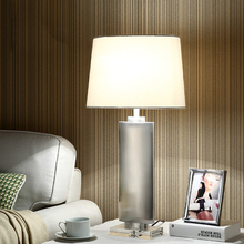 Tischlampe Fr Schlafzimmer Wohnzimmer Lampe Edelstahl Krper Kristall Basis E27 Led Hochzeit Schreibtischlampe Amerika