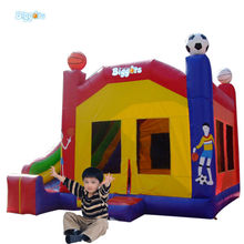 Commercila Grade Inflatable Bouncer With Soccer Decoration For Rental