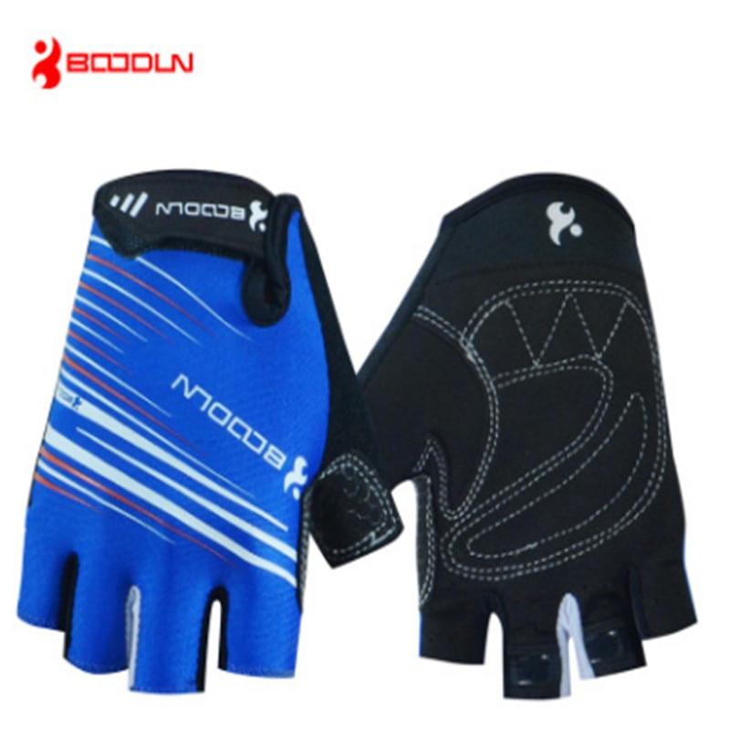 BOODUN Riding half - finger glove Spring Short ride on foot Mountaineering Ride a bike Run Comfortable Ventilation