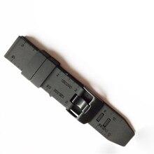MASiKEN, 23 мм, черный резиновый силиконовый Браслет, ремешок для наручных часов, ремешок для часов Luminox, Ремешки для наручных часов, браслет с металлической пряжкой