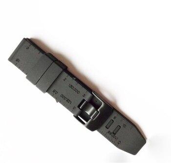 MASiKEN 23 мм черный резиновый силиконовый Браслет ремешок для наручных часов Luminox Ремешки для наручных часов браслет с металлической пряжкой