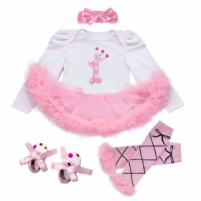 Christmas fall/winter baby girls kids wear santa gift outfits long sleeve baby girl 1st birthday dress with matching accessories