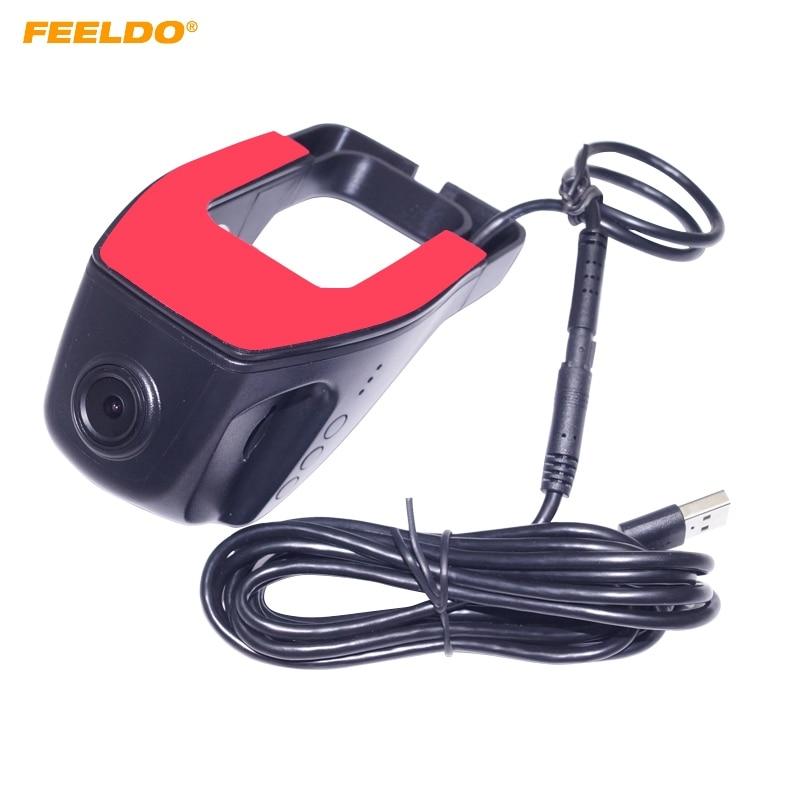 FEELDO For Car Android 4.2/4.4/5.1/6.0 Stereo GPS Navigator 720P HD Car Front USB Digital Video Recorder DVR Camera #FD-1484